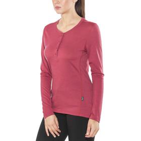 Lundhags Merino Light LS Henley Shirt Women Garnet